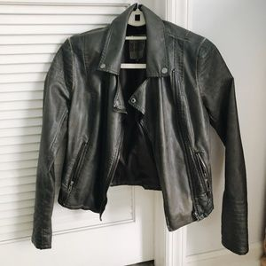 BB Dakota Grey Leather Jacket